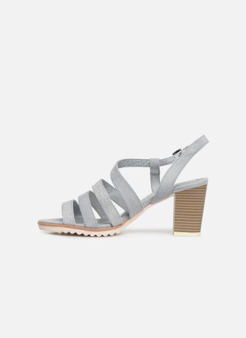 Sandales et nu-pieds Marco Tozzi Inaki Gris vue face