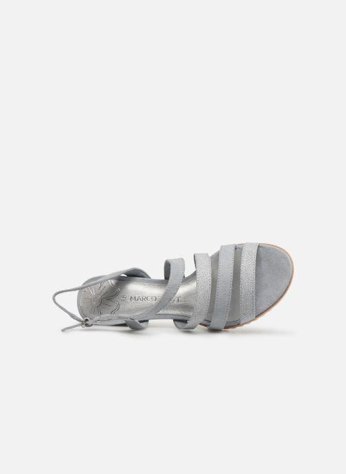 Sandales et nu-pieds Marco Tozzi Inaki Gris vue gauche