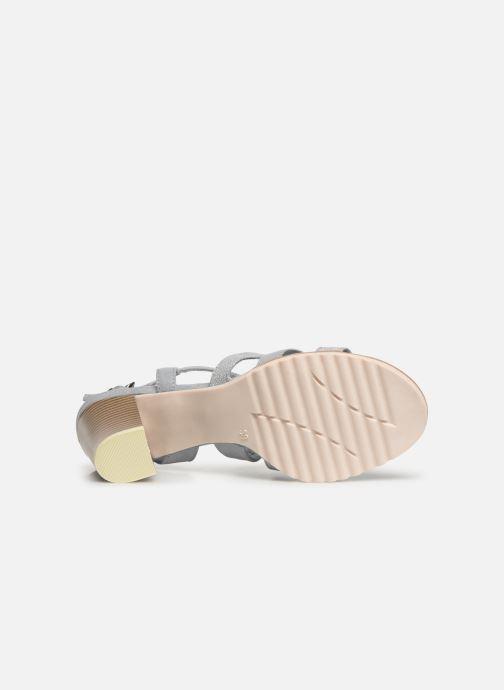 Sandales et nu-pieds Marco Tozzi Inaki Gris vue haut
