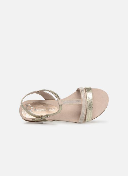 Sandales et nu-pieds Marco Tozzi Peklu Or et bronze vue gauche