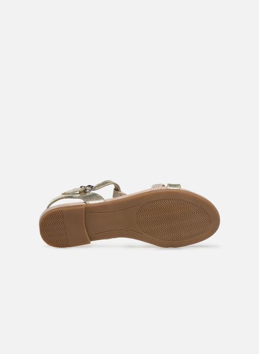 Sandales et nu-pieds Marco Tozzi Peklu Or et bronze vue haut