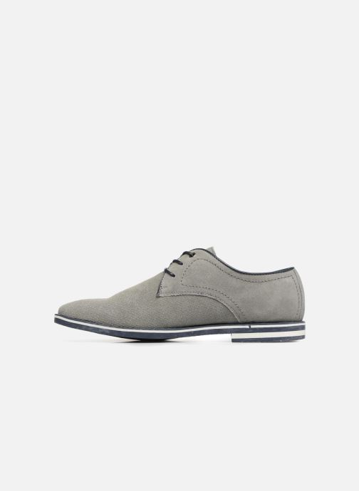 Lace-up shoes I Love Shoes KELUIR Leather Grey front view