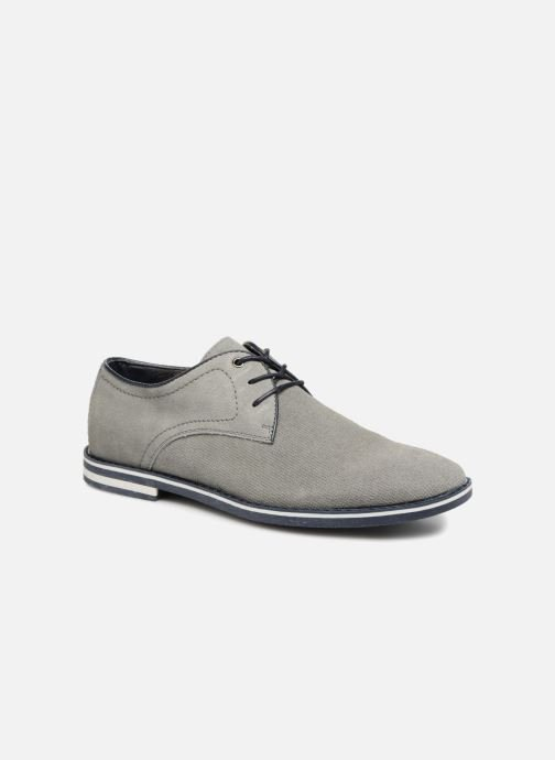 Lace-up shoes I Love Shoes KELUIR Leather Grey detailed view/ Pair view