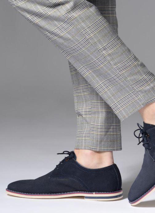 Chaussures à lacets I Love Shoes KELUIR Leather Bleu vue bas / vue portée sac