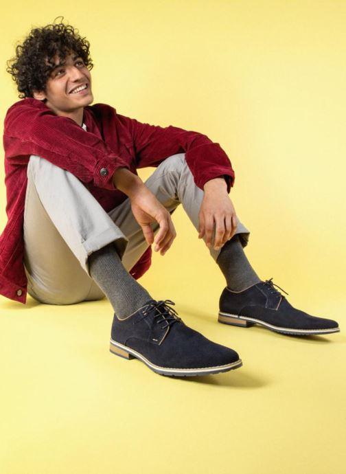 Chaussures à lacets I Love Shoes KERENS Leather Bleu vue bas / vue portée sac
