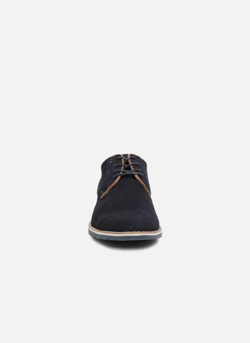 Zapatos con cordones I Love Shoes KERENS Leather Azul vista del modelo