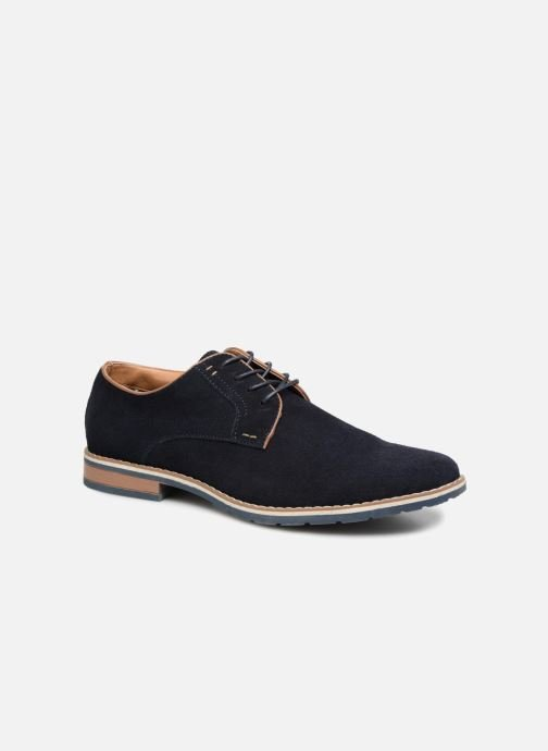 Lace-up shoes I Love Shoes KERENS Leather Blue detailed view/ Pair view