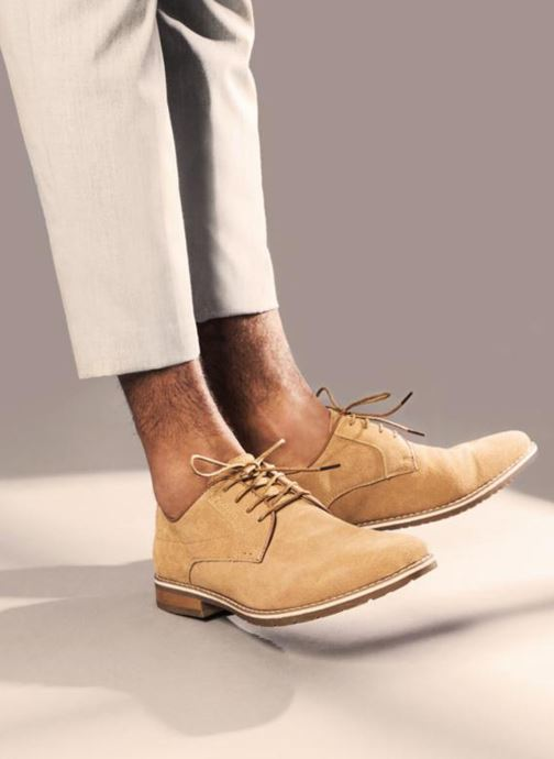 Lace-up shoes I Love Shoes KERENS Leather Brown view from underneath / model view