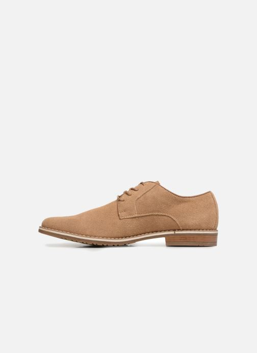 Lace-up shoes I Love Shoes KERENS Leather Brown front view