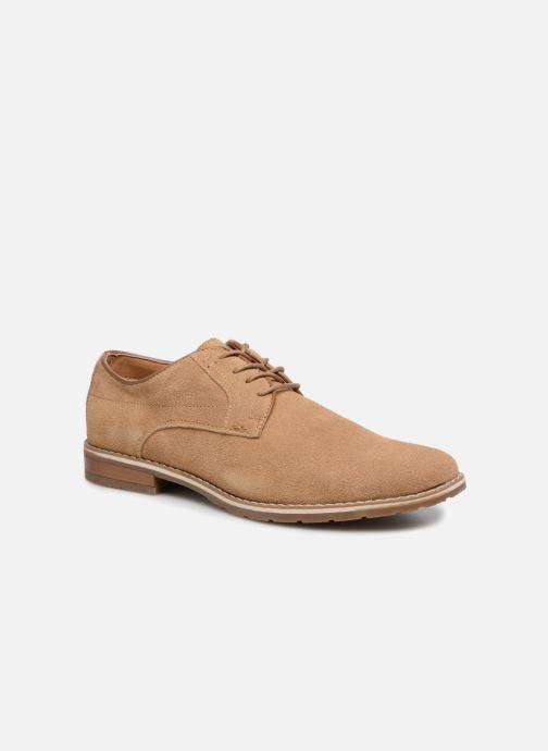 Zapatos con cordones I Love Shoes KERENS Leather Marrón vista de detalle / par