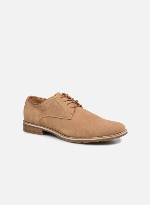 Lace-up shoes I Love Shoes KERENS Leather Brown detailed view/ Pair view