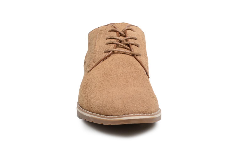 Chaussures à lacets I Love Shoes KERENS Leather Marron vue portées chaussures