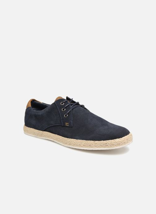 Trainers I Love Shoes KEDRILLO Leather Blue detailed view/ Pair view