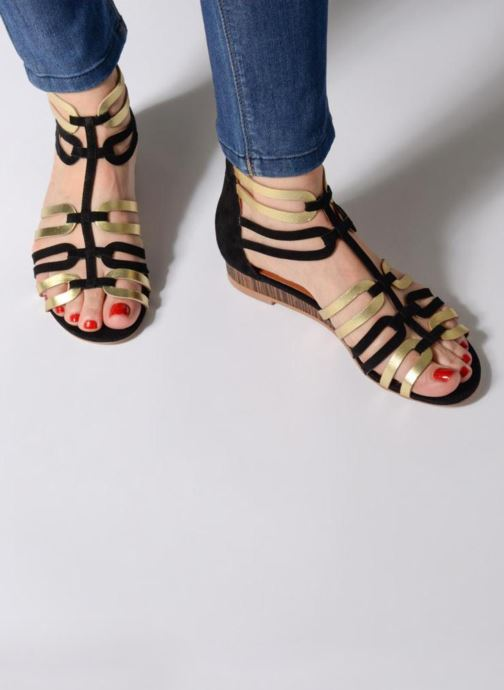 Sandales et nu-pieds Made by SARENZA Carioca Crew Sandales Plates #3 Multicolore vue bas / vue portée sac