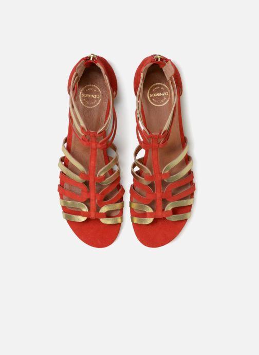 Sandalias Made by SARENZA Carioca Crew Sandales Plates #3 Rojo vista del modelo