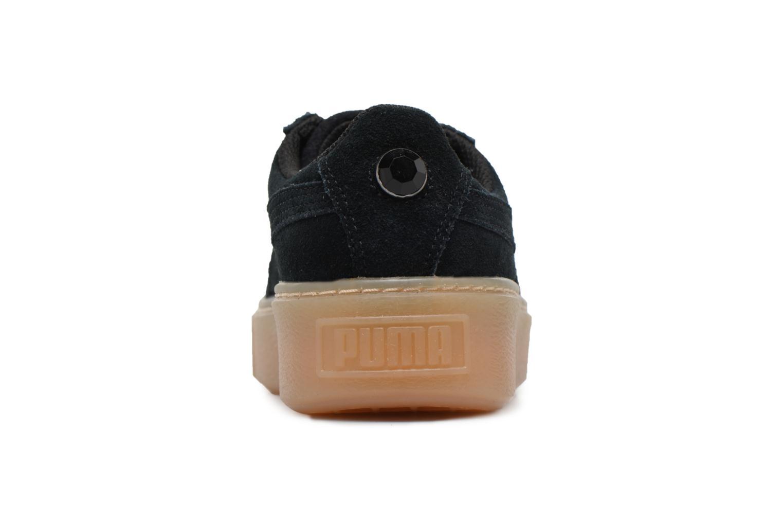 Sneakers Puma Suede Platform Jewel Zwart rechts