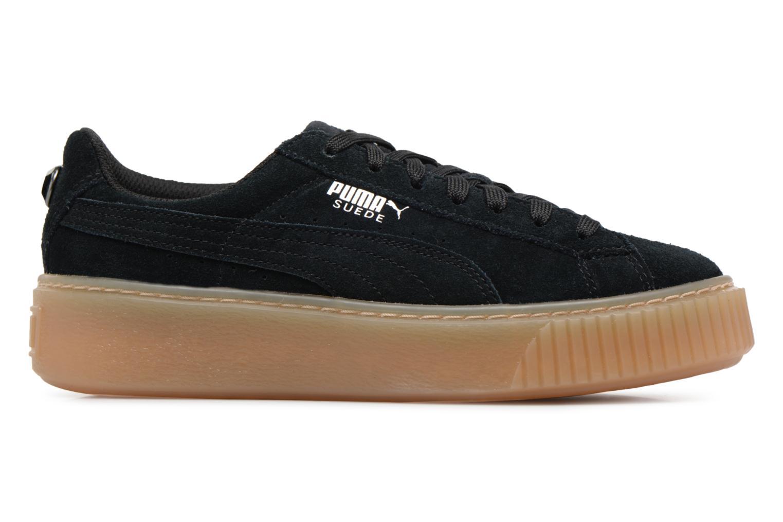 Sneakers Puma Suede Platform Jewel Zwart achterkant