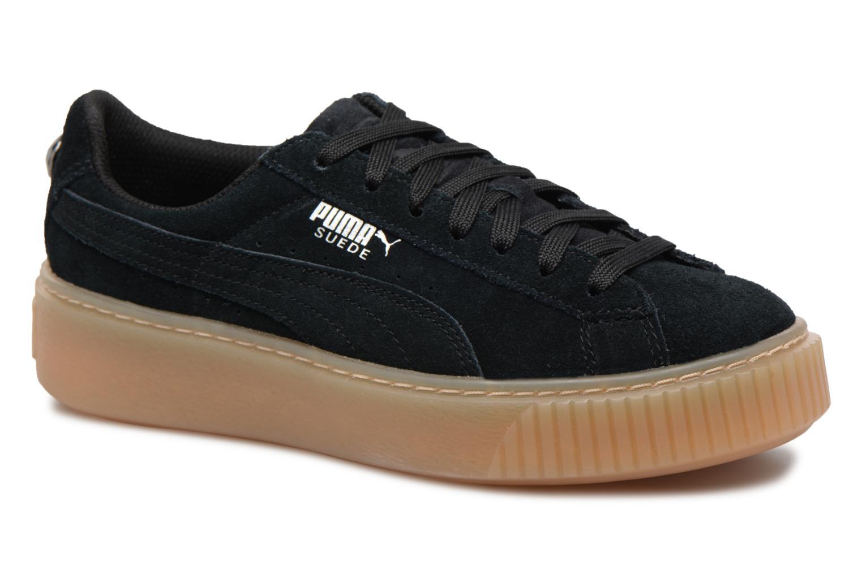 Sneakers Puma Suede Platform Jewel Zwart detail