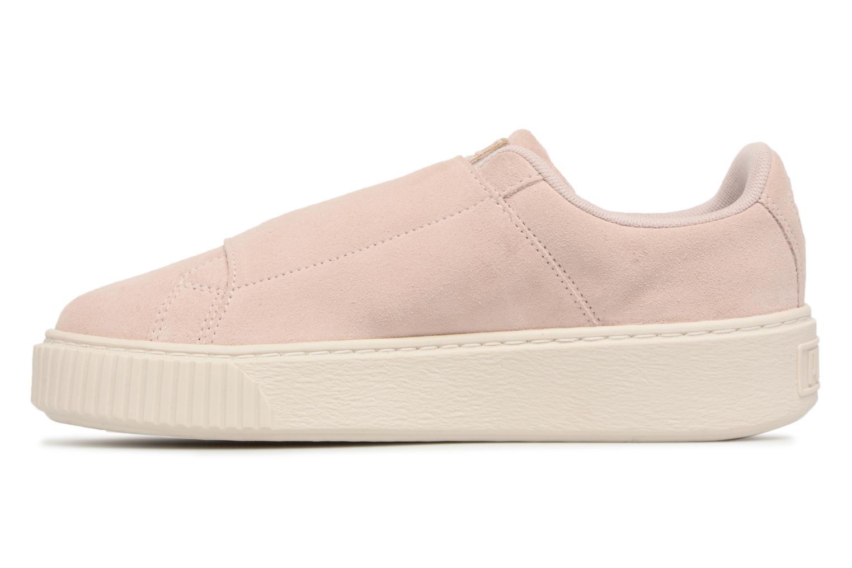 Sneakers Puma Suede Platform Strap Roze voorkant