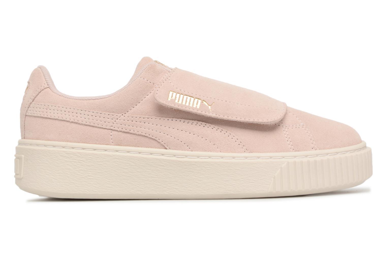 Sneakers Puma Suede Platform Strap Roze achterkant