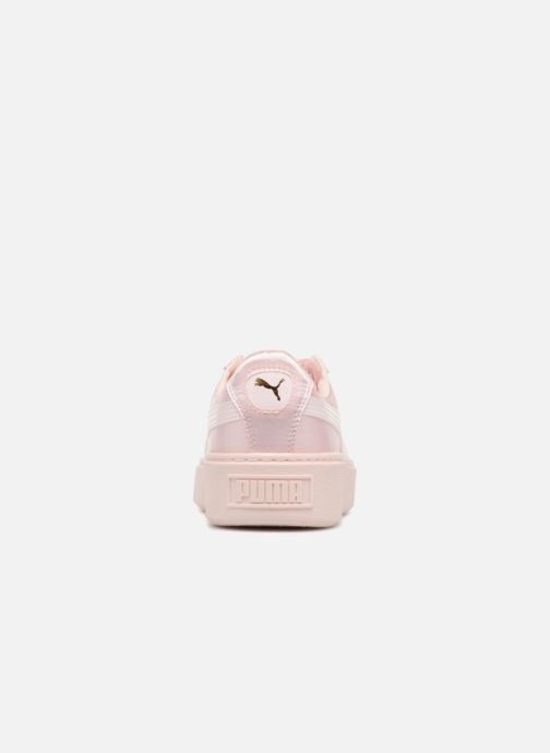 Trainers Puma Basket Platform Tween Pink view from the right