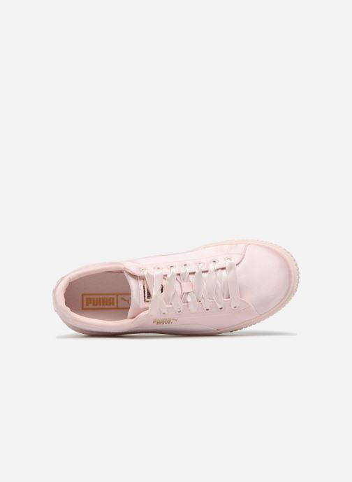 Trainers Puma Basket Platform Tween Pink view from the left