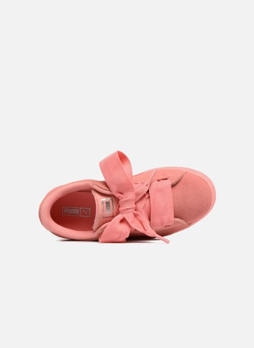 Trainers Puma Suede Heart SNK Pink view from the left