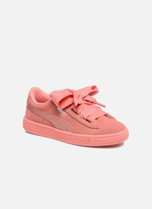 Trainers Puma Suede Heart SNK Pink detailed view/ Pair view