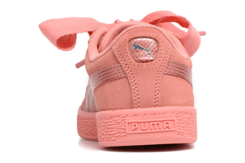 Baskets Puma Suede Heart SNK Rose vue droite