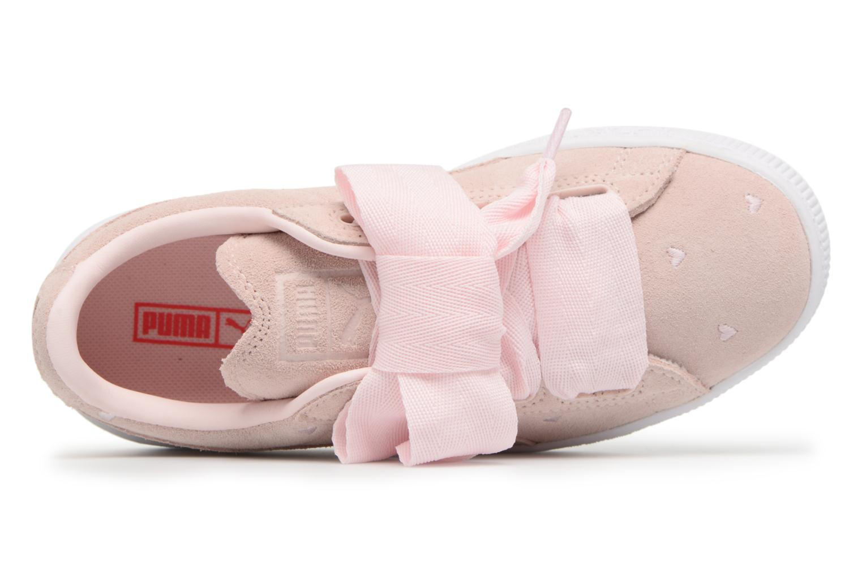 Sneakers Puma Suede Heart Valentine Rosa bild från vänster sidan