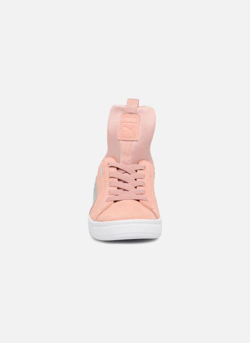 Baskets Puma Suede Fierce Rose vue portées chaussures