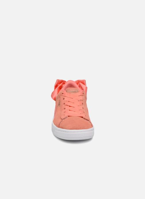 Baskets Puma Suede Bow Rose vue portées chaussures