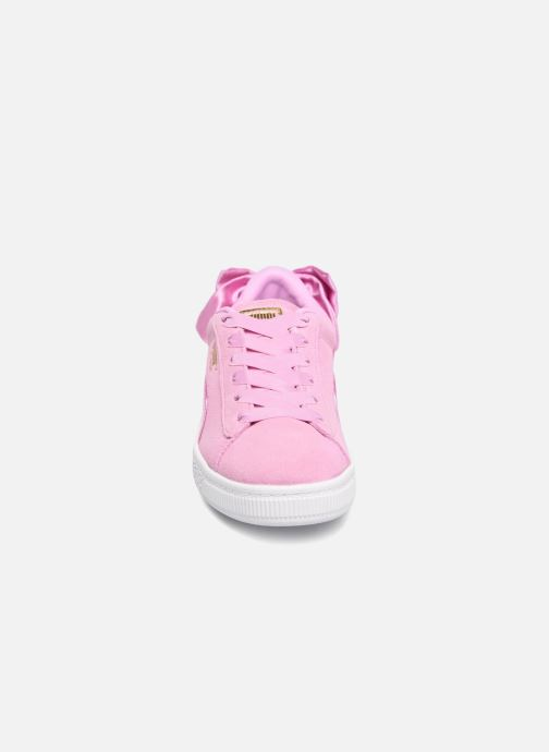 Sneakers Puma Suede Bow Pink se skoene på