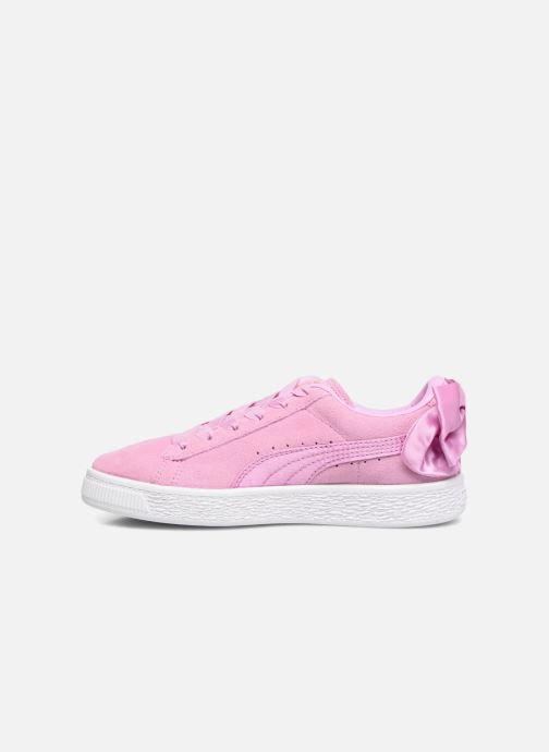 Sneakers Puma Suede Bow Pink se forfra