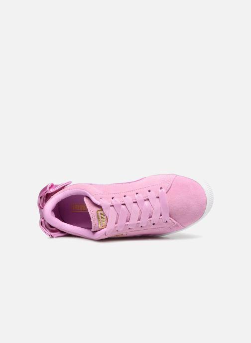 Sneakers Puma Suede Bow Pink se fra venstre