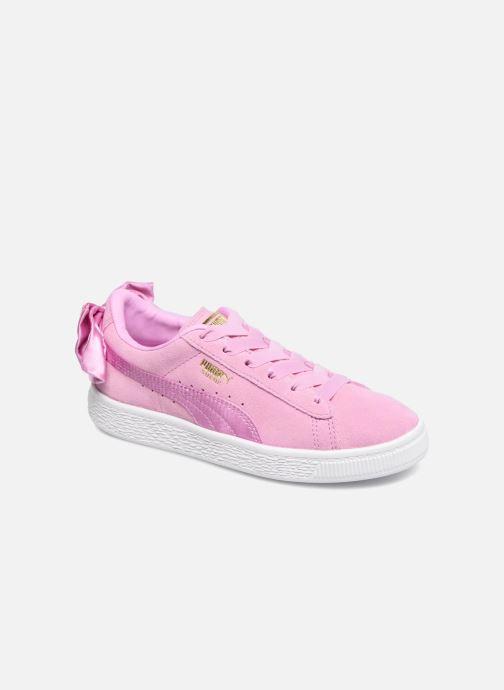 Sneakers Puma Suede Bow Pink detaljeret billede af skoene