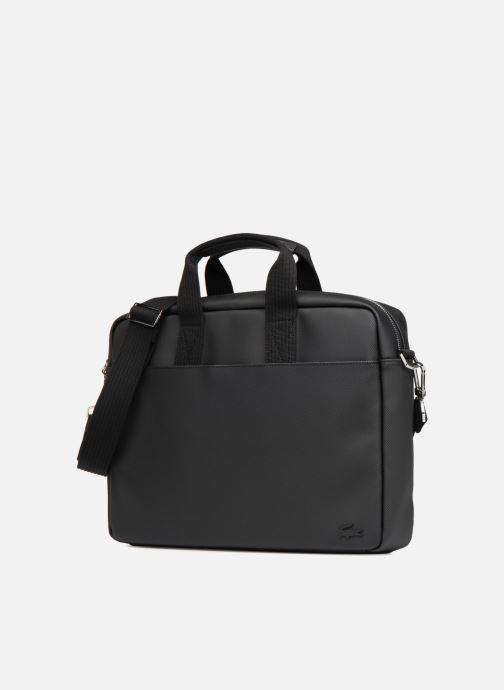 Sacs ordinateur Lacoste MEN S CLASSIC Computer bag Noir vue portées chaussures