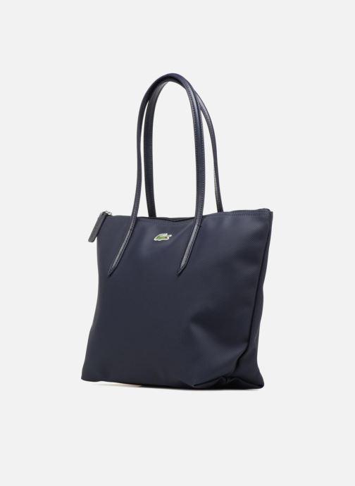 Sacs à main Lacoste S SHOPPING BAG Bleu vue portées chaussures