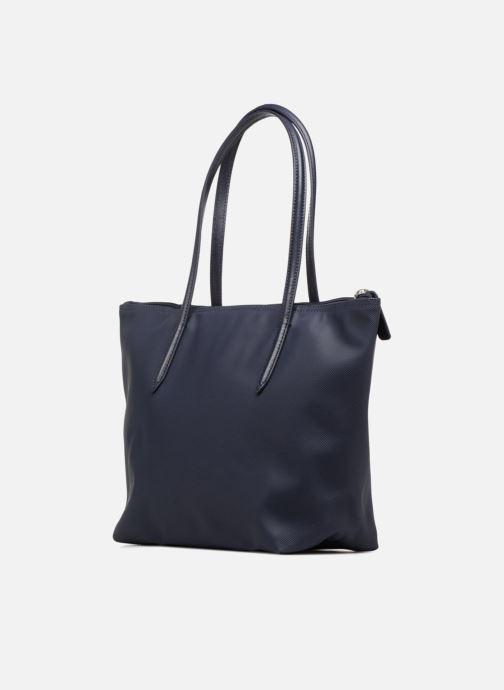 Bolsos de mano Lacoste S SHOPPING BAG Azul vista lateral derecha