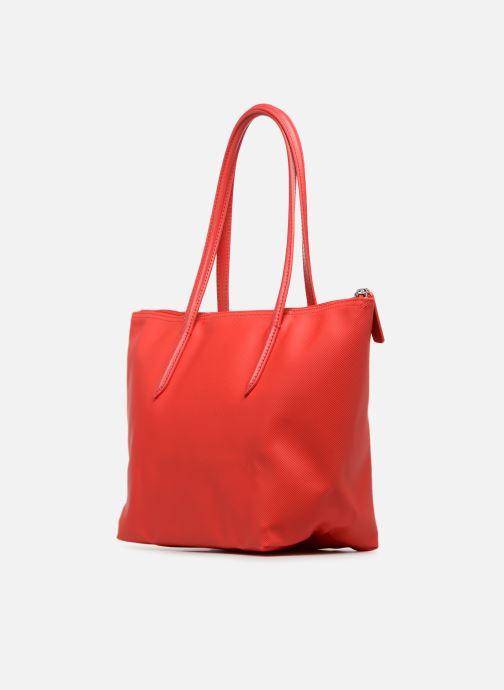 Sacs à main Lacoste S SHOPPING BAG Rouge vue droite