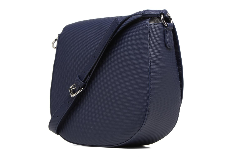 Sacs à main Lacoste ROUND CROSSOVER BAG Bleu vue droite