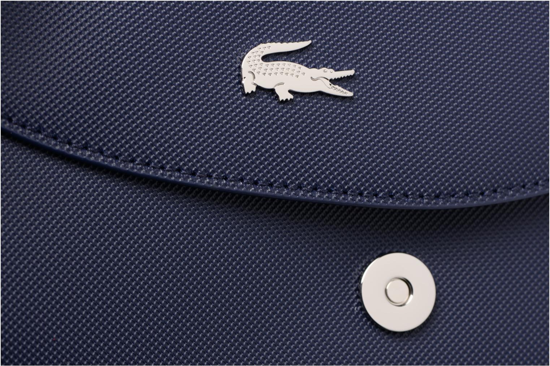 Handtassen Lacoste ROUND CROSSOVER BAG Blauw links