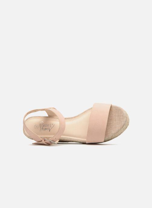 Alpargatas I Love Shoes Blira Beige vista lateral izquierda