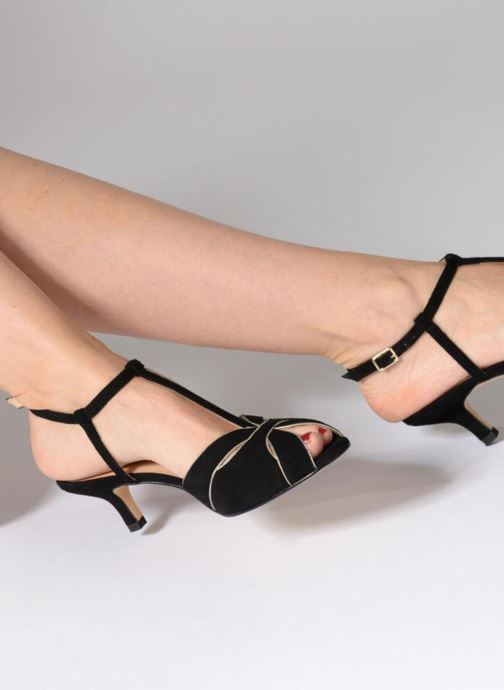 Sandales et nu-pieds Georgia Rose Etcera Rouge vue bas / vue portée sac