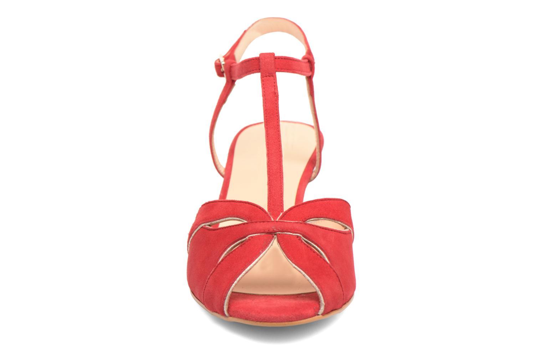 Sandales et nu-pieds Georgia Rose Etcera Rouge vue portées chaussures