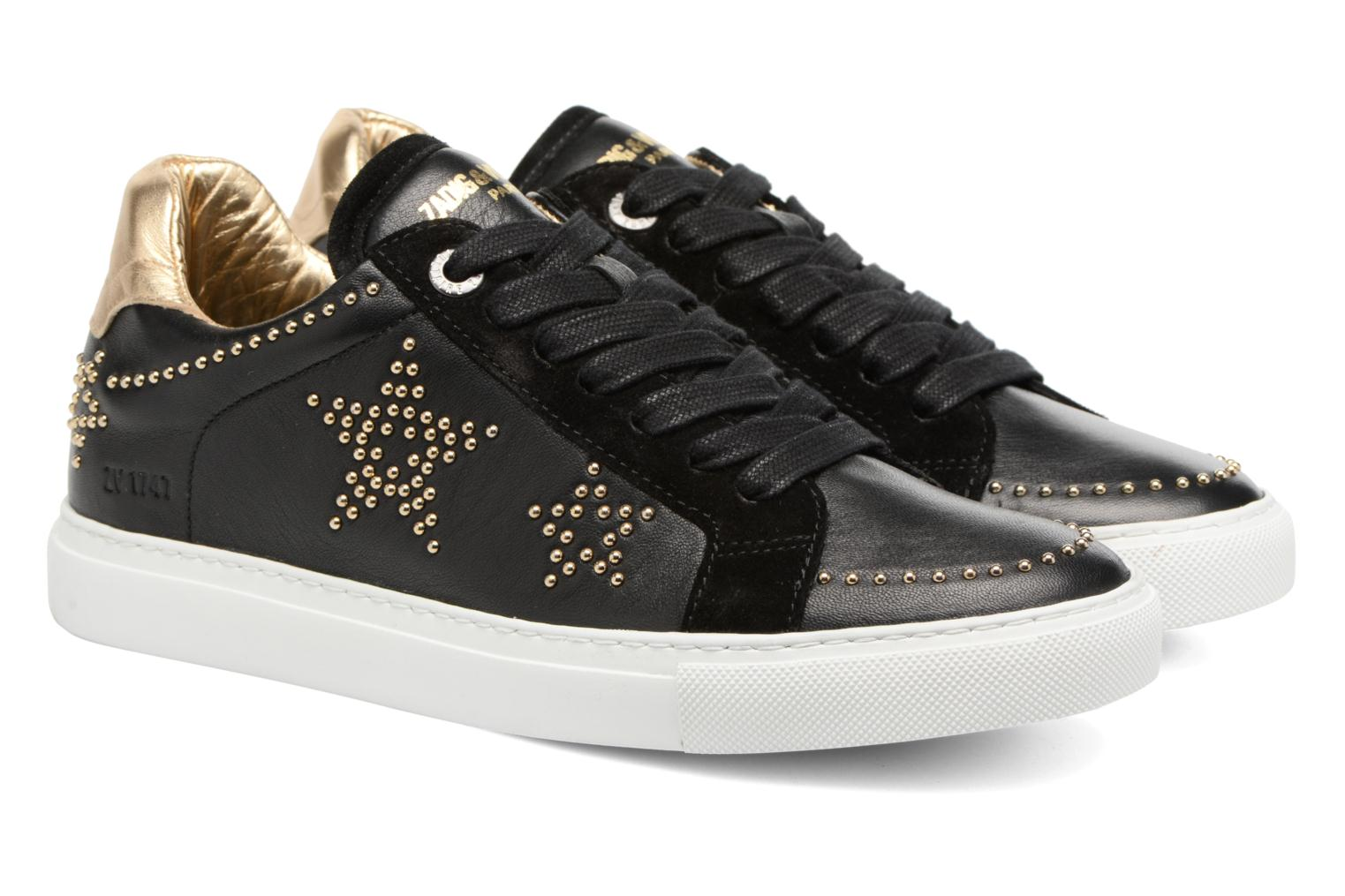 Trainers Zadig & Voltaire STARS Black 3/4 view