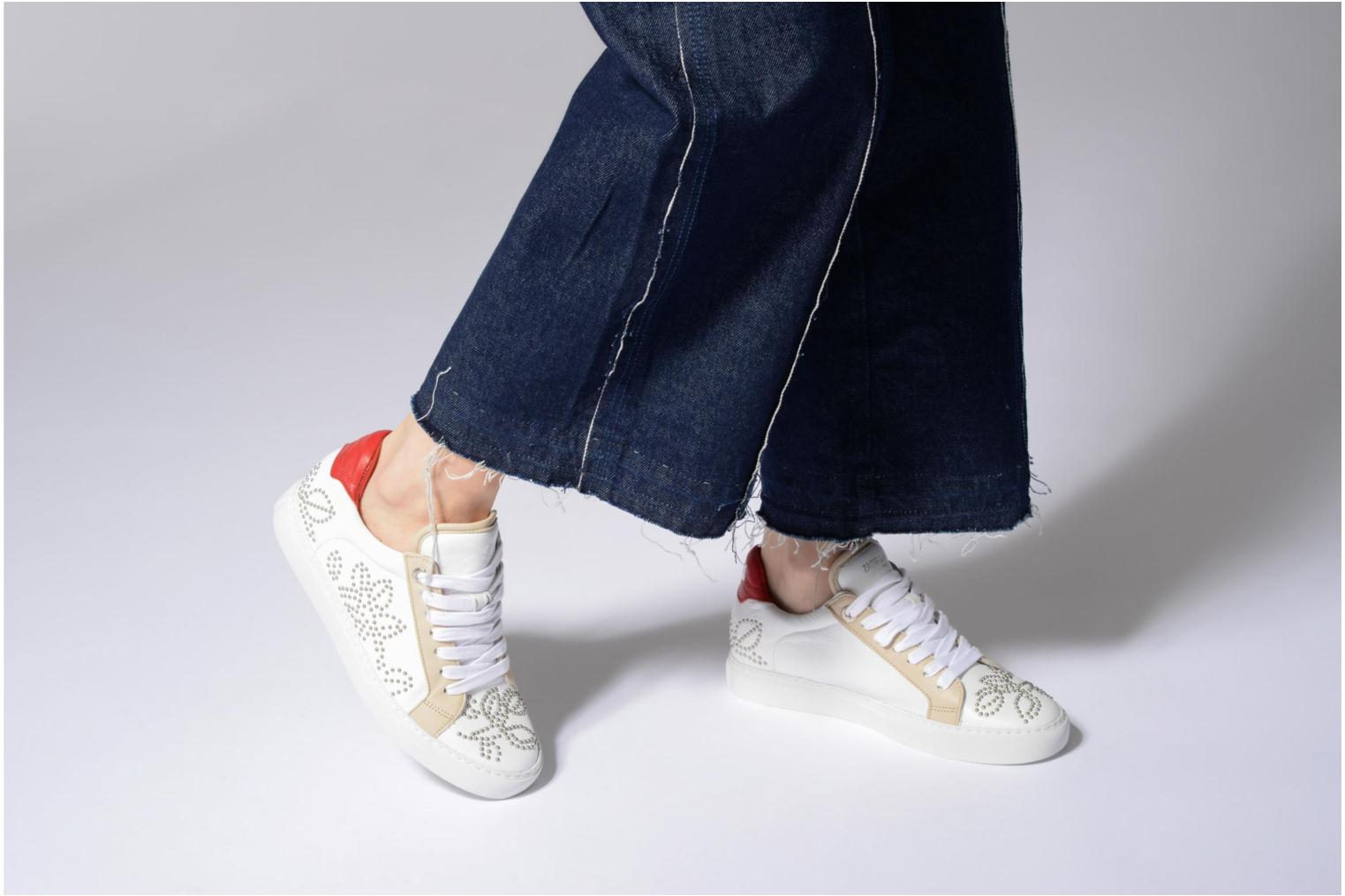 Trainers Zadig & Voltaire ROSE White view from underneath / model view