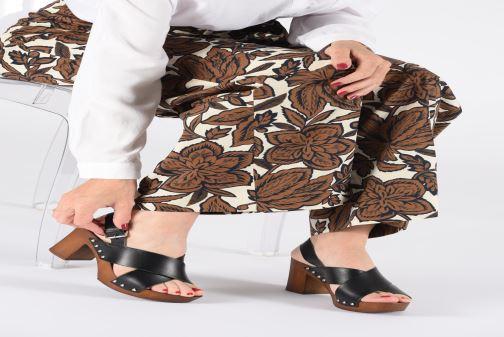Sandales et nu-pieds Georgia Rose Doclou Marron vue bas / vue portée sac