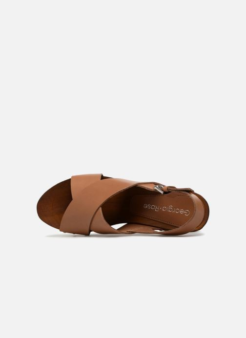 Sandales et nu-pieds Georgia Rose Doclou Marron vue gauche