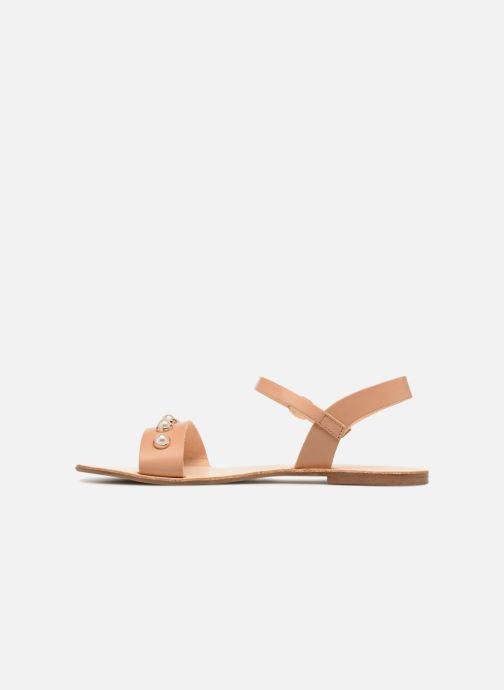 Sandales et nu-pieds Georgia Rose Docultura Marron vue face